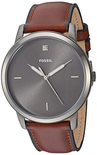 Fossil Men's Minimalist Carbon Series Stainless Steel Quartz Watch