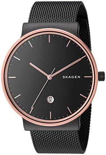 Skagen Men's Ancher Analog-quartz Stainless Steel Mesh Watch