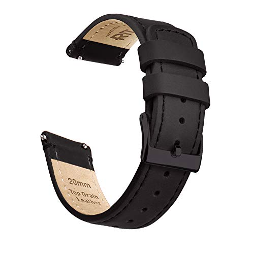 Ritche 20mm Quick Release Leather Watch Band Compatible with Samsung Gear