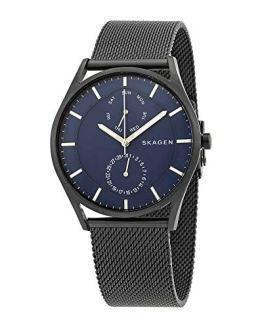 Skagen Men's Holst Stainless Steel Mesh Casual Watch, Color: Black