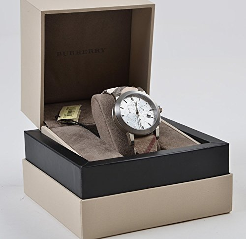 Burberry Unisex Men Women Watch The City Swiss Luxury Round Stainless Steel   Recommended Retail Price: $995 USD Certified product! The condition and authenticity of this watch is certified and guaranteed. 2 YEARS WARRANTY, Brand new, unique serial number on the back and Includes everything that you would get in a BURBERRY Official store: 1)ORIGINAL BURBERRY TAG with UPC code; 2)All the documents (Booklets, warranty card,etc); 3)Original Burberry inner box; 4)Original Burberry outer box; 5)Burberry paper gift bag. High quality SWISS mechanism. TOP 100 Amazon's Best-Selling men's watches!     Recommended Retail Price: $995 USD; Certified product! The condition and authenticity of this watch is certified and guaranteed; 2 YEARS WARRANTY; Brand new; Unique serial number on the back; Includes everything that is included at a BURBERRY Official store:  ORIGINAL BURBERRY TAG with UPC code; All the documents (Booklets, warranty card,etc) Original Burberry inner box; Original Burberry outer box; Burberry paper gift bag.   other brands: iwc , ball , oris , rado , tank , Swiss , Tudor , alpina , armani , edox , hummer , Luxury , movado , museum , Switch , Tissot , giorgio , gucci , versace , burberry , luxurman , ferragamo