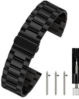 Berfine 20mm Quick Release Watch Strap,Premium Solid Stainless Steel