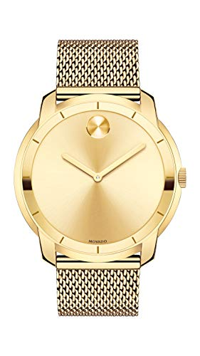 MoMovado Men's Swiss-Quartz Watch with Gold-Plated-Stainless-Steel Strapvado Men's Swiss-Quartz Watch with Gold-Plated-Stainless-Steel Strap