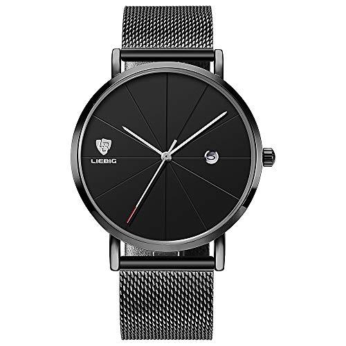 Mens Luxury Wrist Watches, Minimalist Fashion Ultra Thin Watch for Men