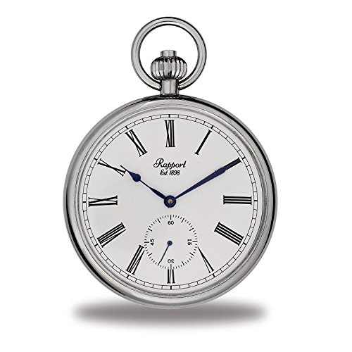 Vintage Pocket Watch with Chain by Rapport - Classic Oxford Open Face Pocket