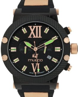 Mulco Nuit Black Dial Rubber Ladies Watch