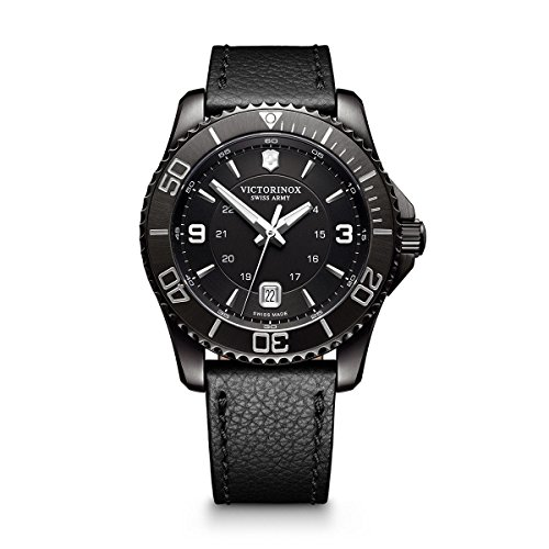 Victorinox Men's Maverick Stainless Steel Swiss-Quartz Watch with Leather Strap