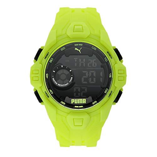 PUMA Men's Quartz Watch with Plastic Strap, Yellow, 20 (Model: P5041)