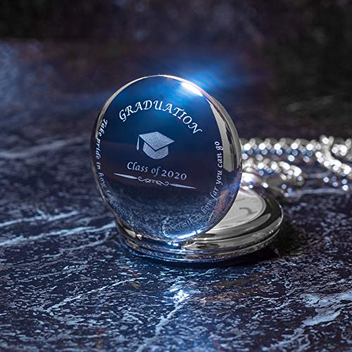 Graduation Gifts for Him - Pocket Watch - Engraved 'Class of 2020'