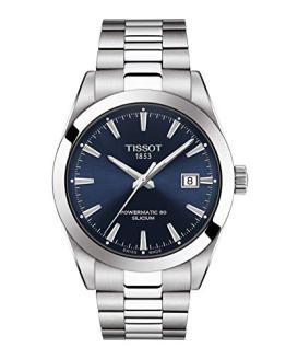 Tissot Mens Gentleman Swiss Automatic Stainless Steel Dress Watch (Model: T1274071104100)