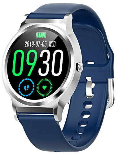 Smart Watch Full Touchscreen Heart Rate Monitor Activity Tracking Step Counter Calorie Counter Stopwatch Blood Pressure for Men Women