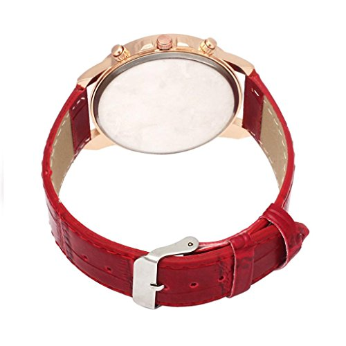 Watch!!! Mens Belt Watch Geneva Leather Analog Dial Quartz Sport Wrist Watch 🌹Feature🌹
