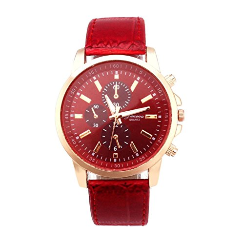 Watch!!! Mens Belt Watch Geneva Leather Analog Dial Quartz Sport Wrist Watch