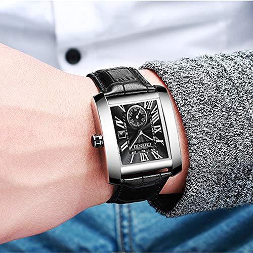 JewelryWe Luxury Square Independent Second Dial Japan Quartz Watch