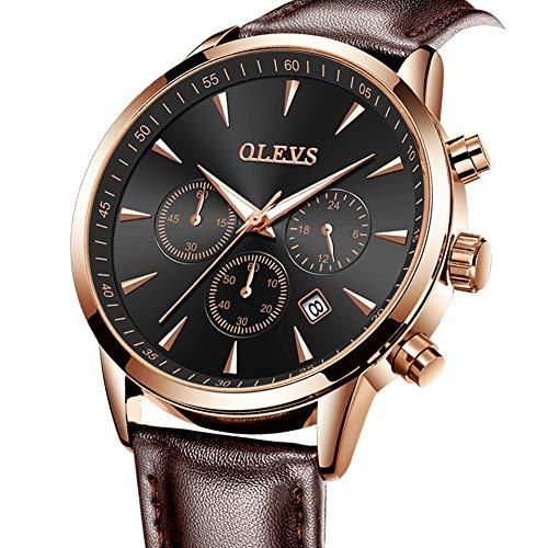 OLEVS Men's Watch,Chronograph Luminous Quartz Watch Dress Watch for Men