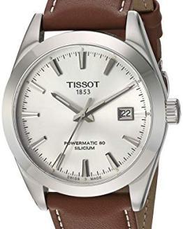 Tissot Mens Gentleman Swiss Automatic Stainless Steel Dress Watch (Model: T1274071603100)