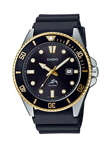 Casio Women's Diver Inspired Stainless Steel Quartz Resin Strap