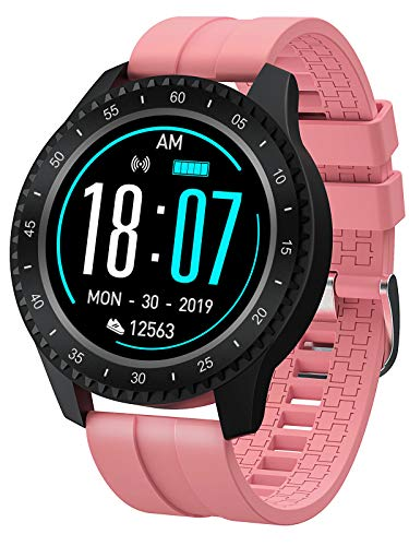 Smart Watch Heart Rate IP68 Waterproof Touch Screen Sports Modes Step Calorie Counter Fitness Tracker for Men Women
