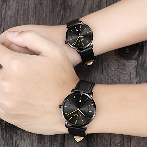 Men's and Women's Couple Pair Watches-OLEVS His and Hers Set
