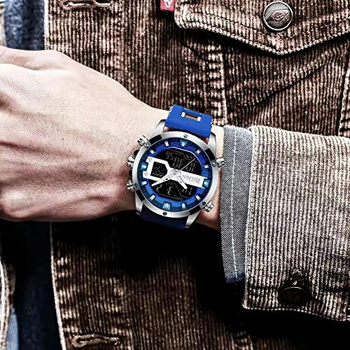 Men's Watch Fashion Military Waterproof Chronograph Business Analog Quartz