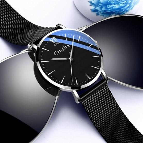 Luxury Brand Male Clock Business Quartz