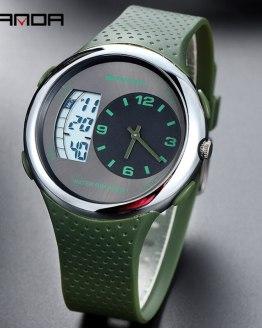 Green Quartz Watch For Men Casual Mens Wrist Watch