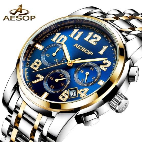 Stainless Steel Men's Wristwatch Male Clock Men Wrist