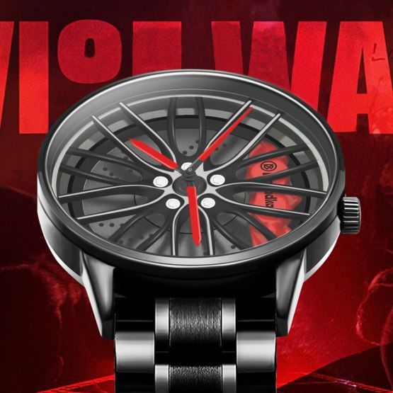 Wheel Rim Hub Watch Men Wristwatch Clock Sport