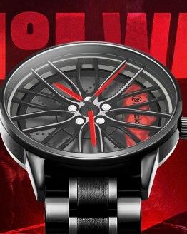 Wheel Rim Hub Watch Men Wristwatch Clock Sport