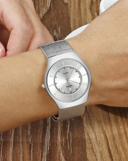 WWOOR Creative Watch For Men Fashion Ultra Thin Steel Mesh Men Wrist Watch Luxury Business Luminous Waterproof Quartz Clock Male
