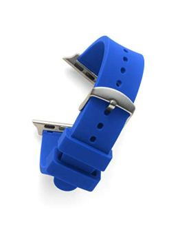 Flat Royal Blue SILCONE 22MM for 38MM Apple Watch