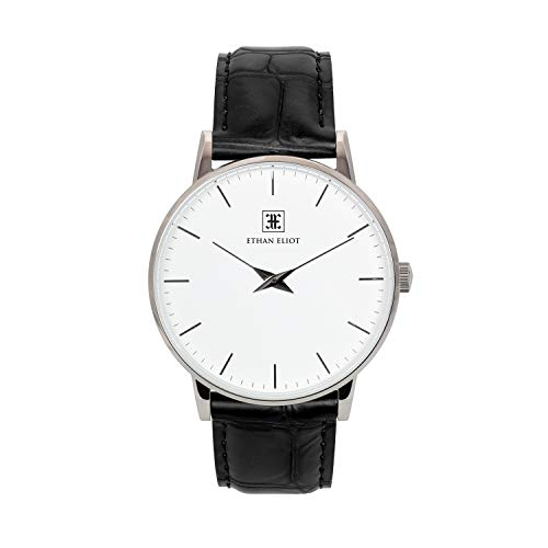 Ethan Eliot Water Resistant Watch Black Leather