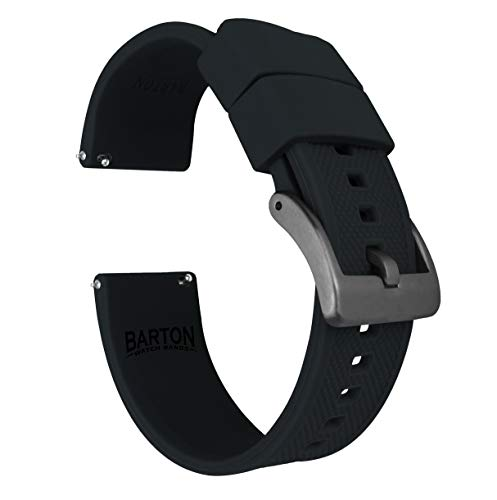 22mm Black - Barton Elite Silicone Watch Bands