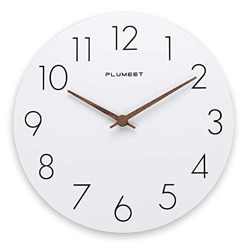 Plumeet 12'' Wooden Wall Clock Frameless Clocks