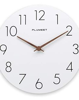 Plumeet 12'' Wooden Wall Clock Frameless Clocks