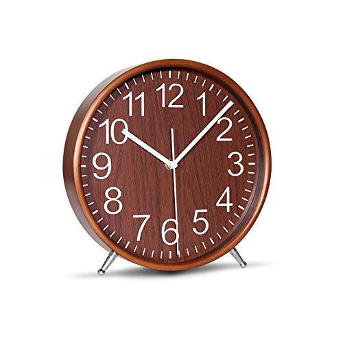 KAMEISHI 8 Inch Wood Table Clocks Battery