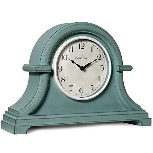 PresenTime & Co Vintage Farmhouse Table Mantel Clock