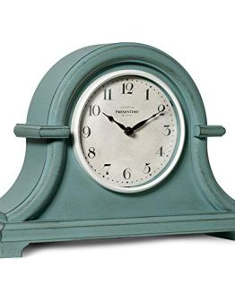 PresenTime & Co Vintage Farmhouse Table Mantel Clock