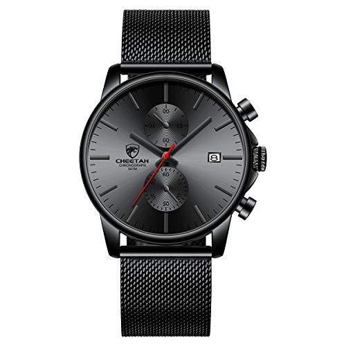 Men's Watch Fashion Sport Quartz Analog Mesh Stainless Steel