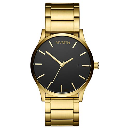 Black Gold Link 45 MM Men's Analog Minimalist Watch