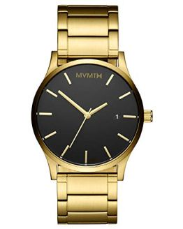 Black Gold Link 45 MM Men's Analog Minimalist Watch