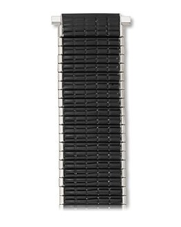 Comfortable Stretch Thinline Black with Silver Watchband 18-22mm