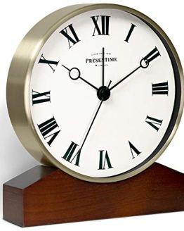PresenTime Co Mozart Mantel Alarm Clock Golden Color