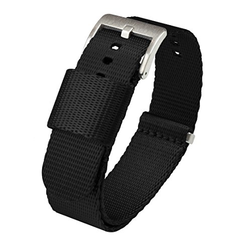 20mm Black Jetson NATO Style Watch Strap