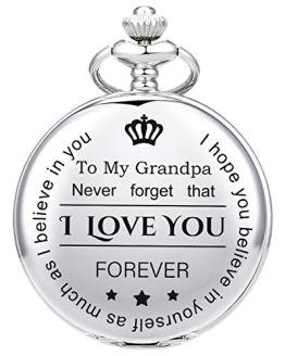 Pocket Watch for Grandpa from Granddaughter Grandson