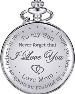 Hicarer Pocket Watch Gift for Son-Never Forget That