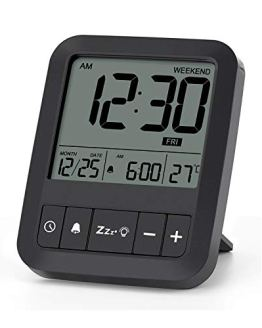 Digital Travel Alarm Clock Clock with Snooze Mode
