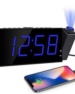 Projection Digital Alarm Clock LED Display Dimmer