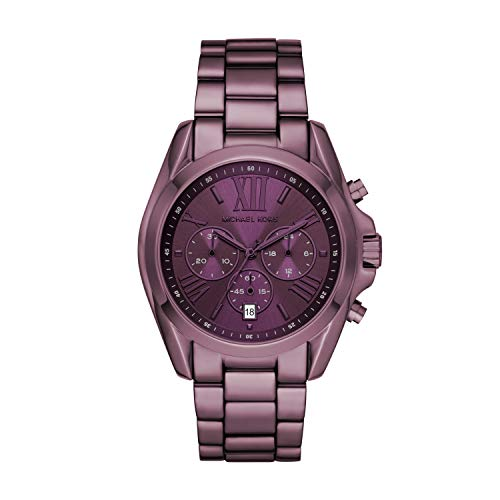 Purple  Michael Kors Quartz Watch Steel Strap