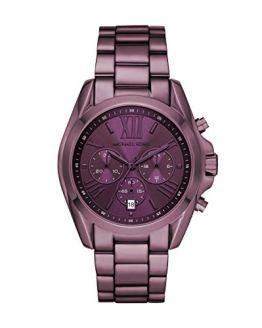 Purple Michael Kors Quartz Watch Steel Strap